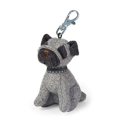 Puggles the Pug Key Ring