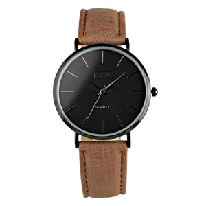 Mens Black Case Watch in Stone