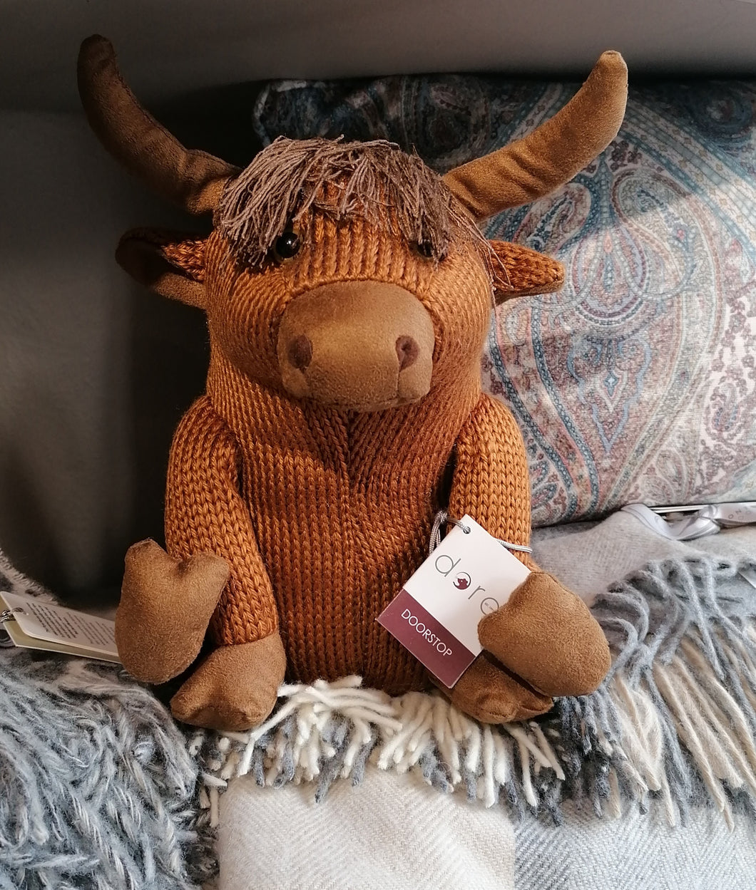 Mull Highland Cow Doorstop