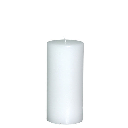 Medium White Flat Top Candle