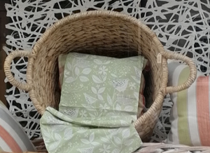 Natural Square Base Woven Basket