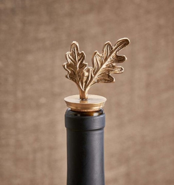 Oak Leaf Bottle Stopper