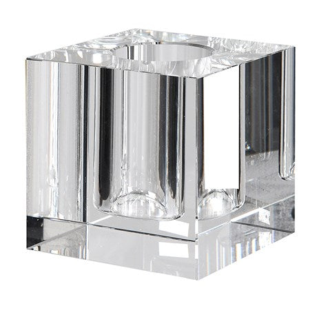 Single Stem Crystal Square Vase