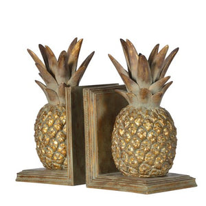 Pair Pinapple Bookends
