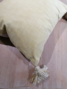 Saffron Tassel Cushion