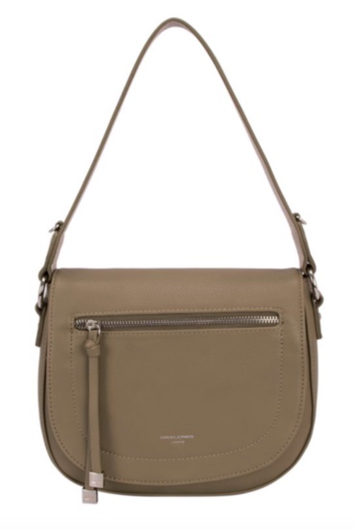 Khaki Saddle Handbag