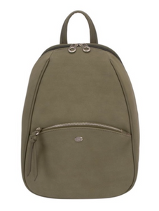 Khaki Zippy Mini Backpack