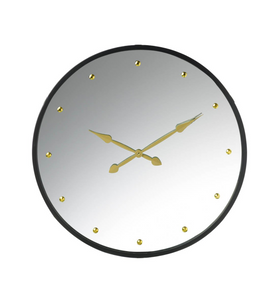 Mia Mirror Clock Black and Gold