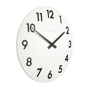 "12"" Camden Wall Clock Cotton White"