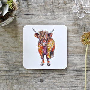 Highland Cow Coasters Set of 4