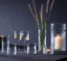 Clear Wicker Lantern Vase