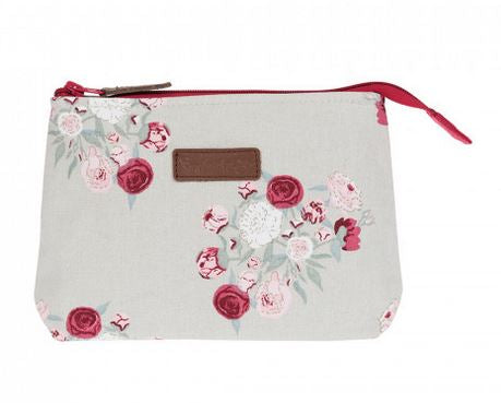 Peony Canvas Makeup Bag