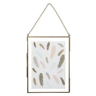Antique Brass Hanging Photo Frame 8x6''