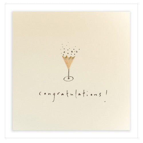 Champagne - Pencil Shavings Card