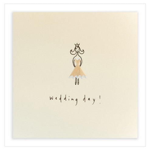 Wedding Dress - Pencil Shavings Card
