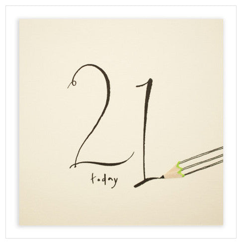 21st Birthday - Pencil Shavings Card
