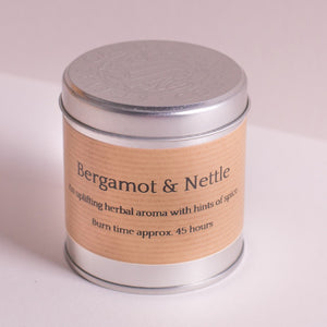 Bergamot Nettle Scented Candle Tin