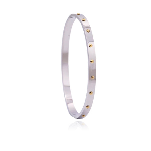 Single Bracelet with Rivets