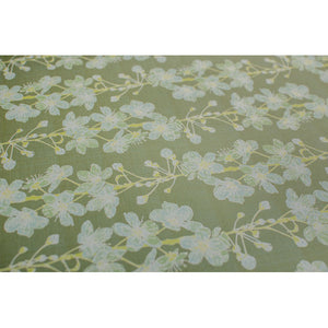 Green Cherry Blossom Gift Wrap