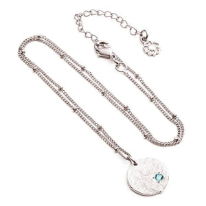Layla Hidden Coin Necklace: Silver
