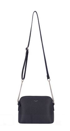Dark Blue Handbag with Chain Detail Strap
