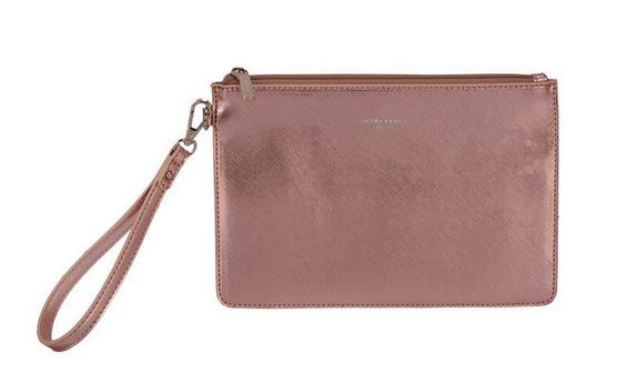 Metallic Pink Clutch Bag