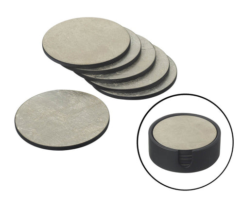 Silver Texture Coasters - Set of 4