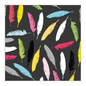 Coloured Feathers Gift Wrap