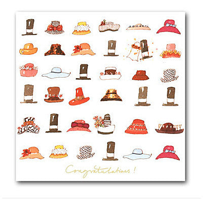 Congratulations Hats Card
