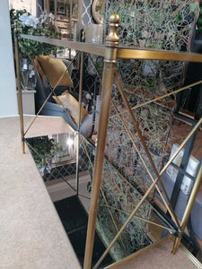 2 Tier Gold Console Table