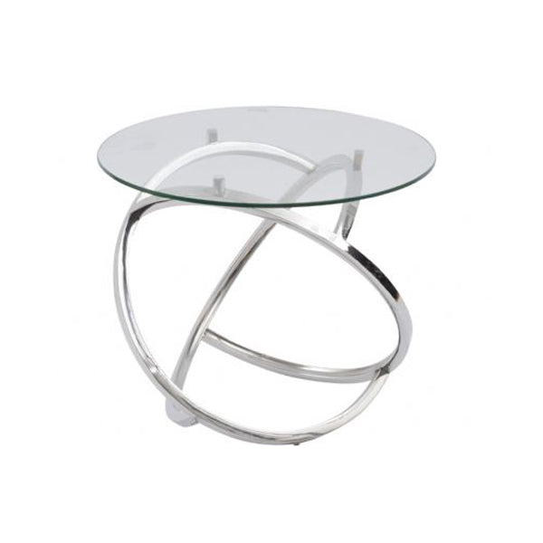 Curl Silver Side Table