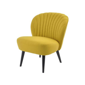 Curve Shell Back Retro Occasional Chair - Mustard