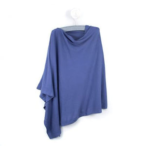 Blue Cotton Poncho