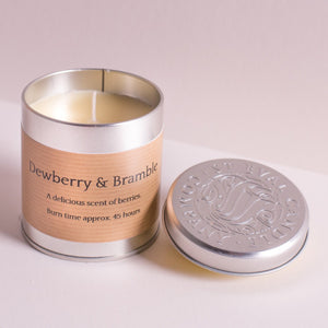 Dewberry & Apple Tin Candle