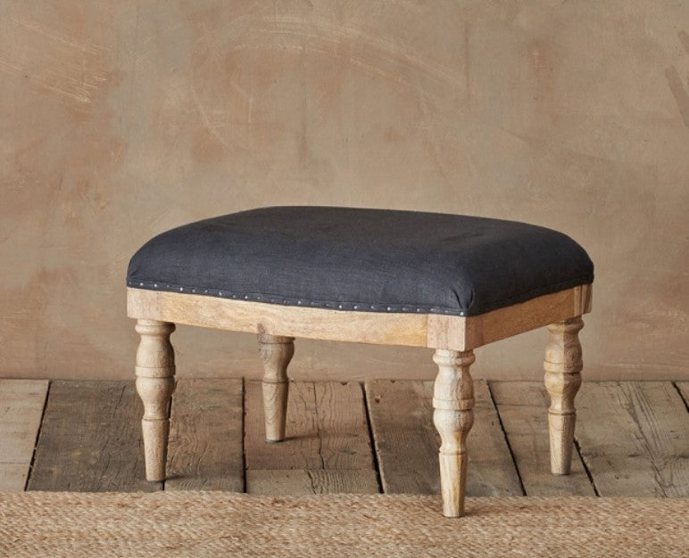 Charcoal Footstool