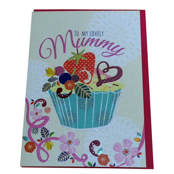 Cupcake To My Lovely Mummy Card