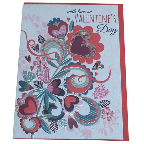 With Love On Valentines Day Card