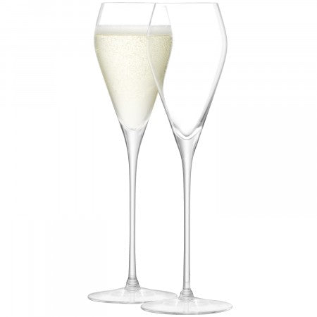 Wine Prosecco Glass 250ml Clear x 2