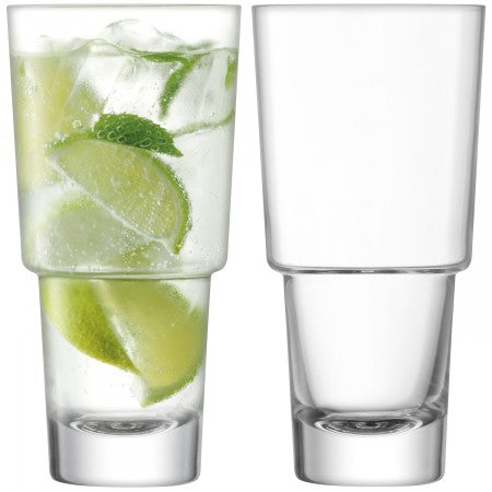 Mixologist Highball Clear Glasses x2