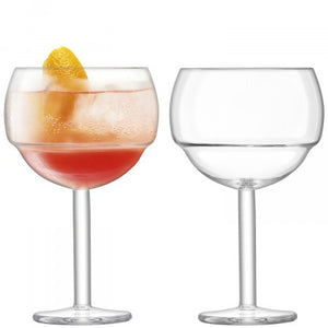 Mixologist Cocktail  Ballon Glass set of 2 Clear