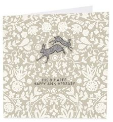 His and Hares Card