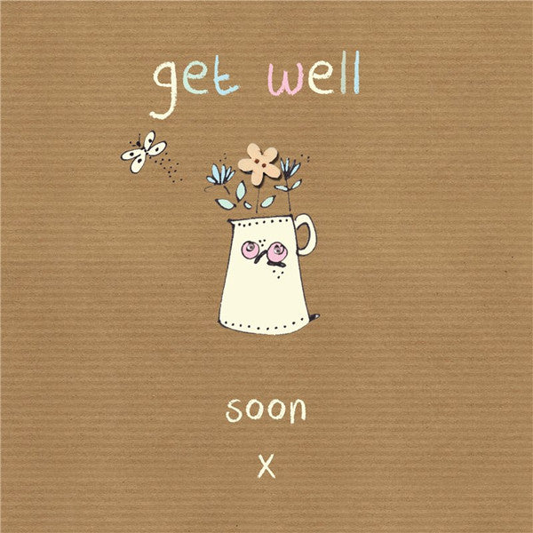 Get Well Soon Flowers Card
