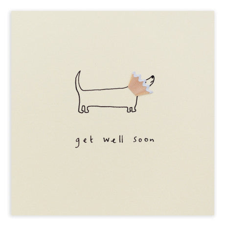Get Well Dog Cone - Pencil Shavings Card
