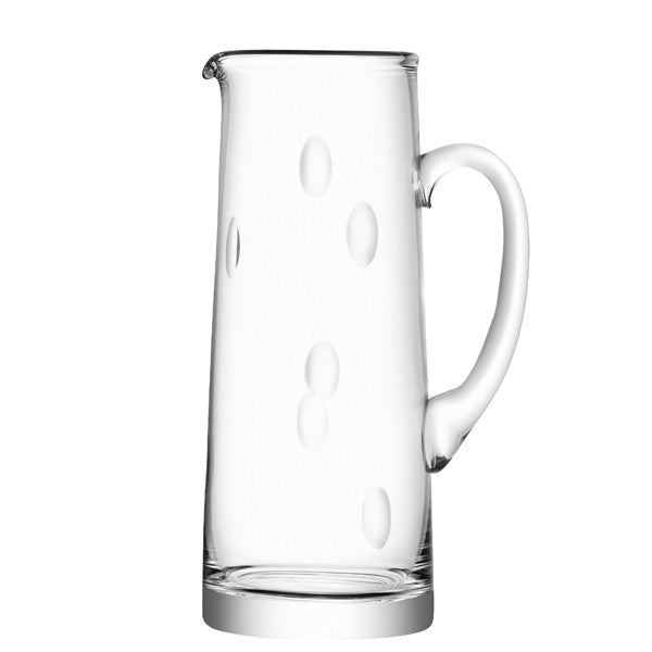 Glass Jug with Dents