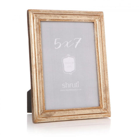 Gold Distressed Wooden Photo Frame 5x7''