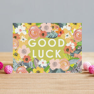 Good Luck Floral Card