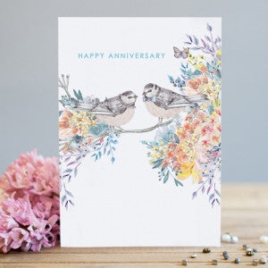 Happy Anniversary Birds Card