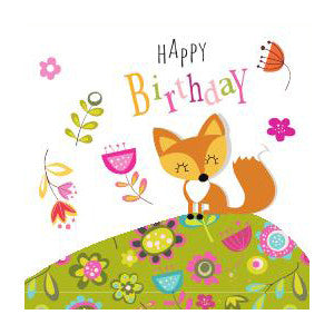 Foxy Happy Birthday Card