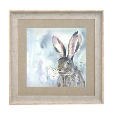 Harriet Hare Birch Frame Picture