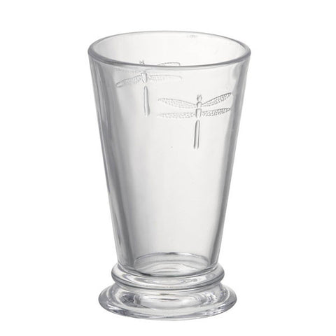Clear Glass Dragonfly Highball